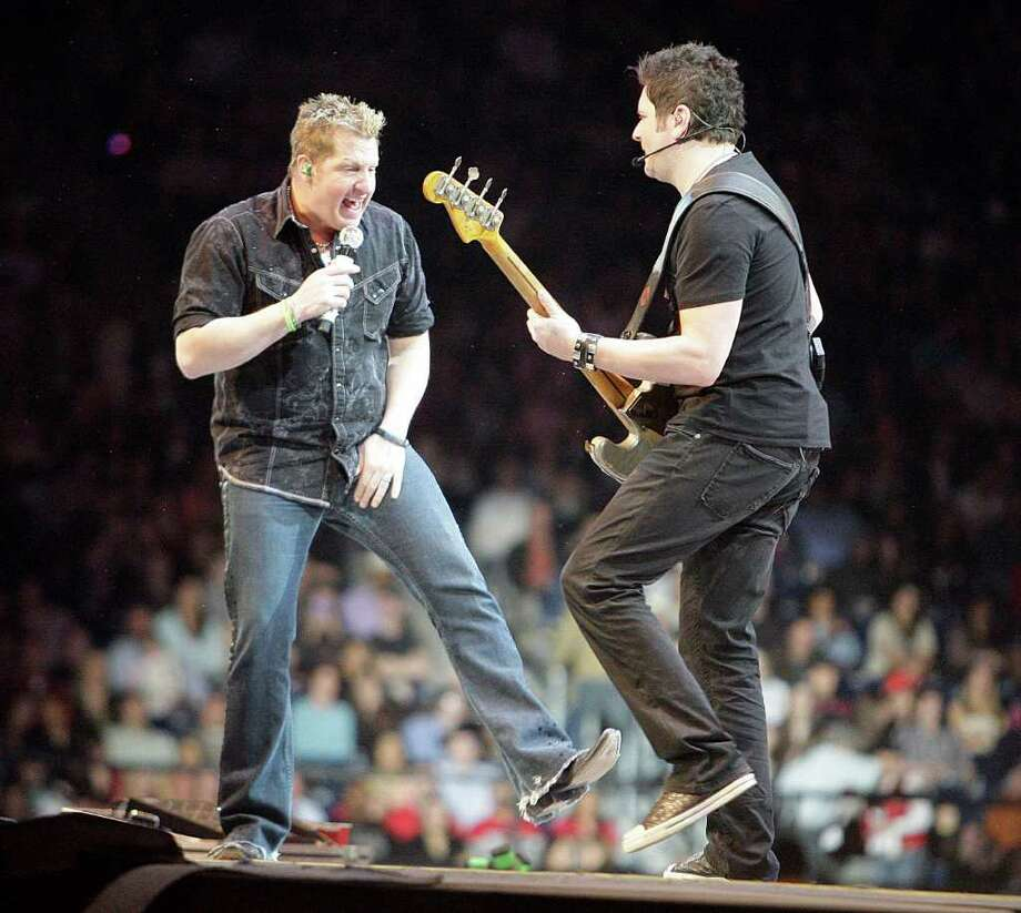 Rascal Flatts performs in concert during the Houston Livestock Show and Rodeo at Reliant Stadium Thursday, March 10, 2011, in Houston. Photo: James Nielsen / Houston Chronicle