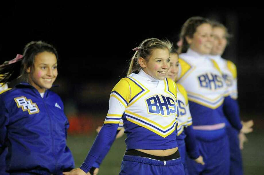 Off-field action at the Brookfield vs. Newtown football game at Brookfield High School on Friday, Oct. 28, 2011. Newtown won 41-0. Photo: Jason Rearick / The News-Times