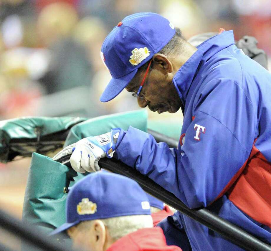 Texas Rangers manager Ron Washington during a 6-2 loss to the St. Louis Cardinals in Game 7 of the World Series at Busch Stadium in St. Louis, Missouri, on Friday, October 28, 2011. (Max Faulkner/Fort Worth Star-Telegram/MCT) Photo: Max Faulkner, McClatchy-Tribune News Service / Fort Worth Star-Telegram