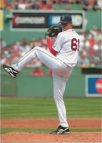 Clay Buchholz pitching a no-hitter for the Boston Red Sox. Buchholz is from Lumberton. Photo: Courtesy Of Their Families