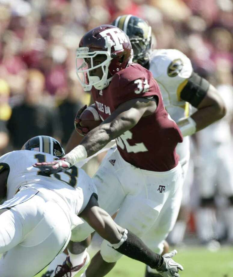 A&M running back Cyrus Gray could miss Thursday's game against rival UT. Photo: Nick De La Torre, Houston Chronicle / © 2011  Houston Chronicle