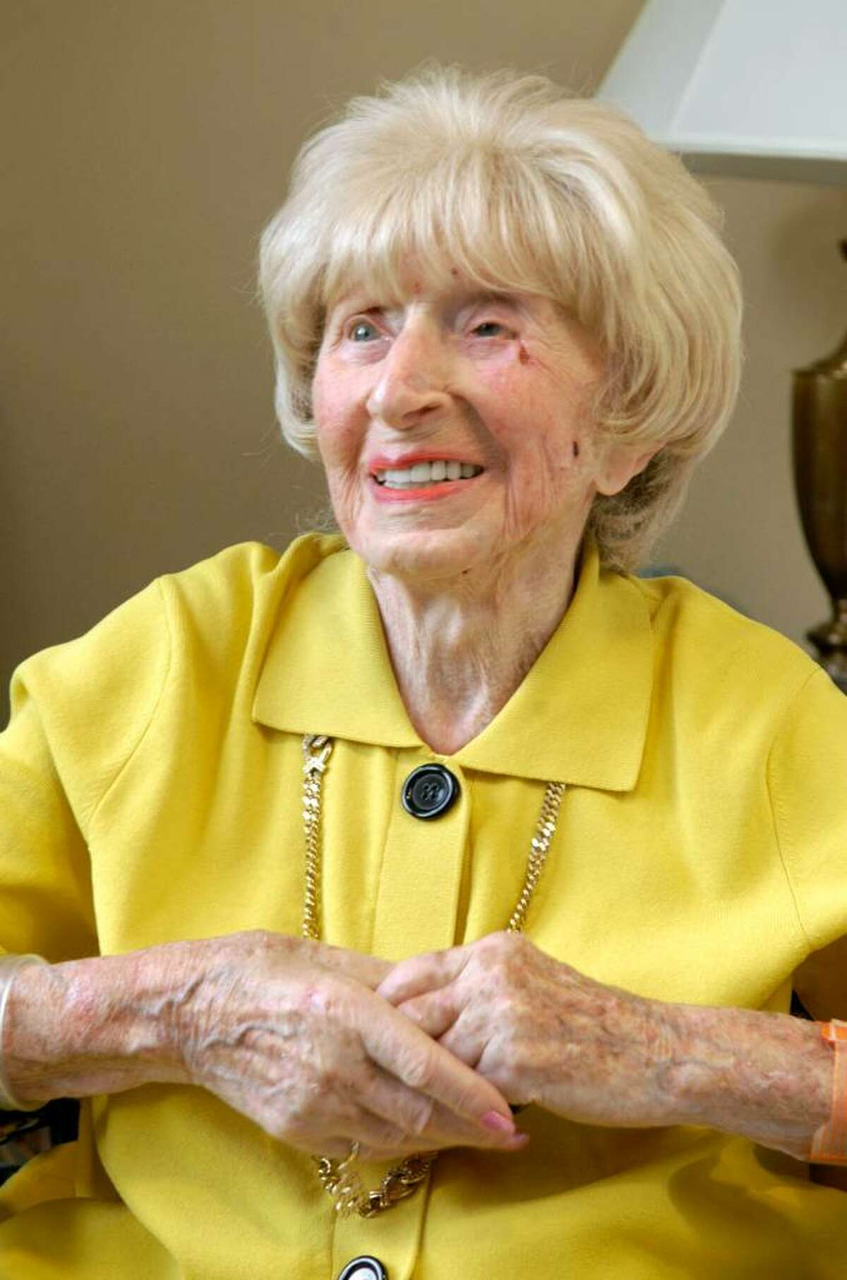 "Carol Kaliff/staff photographer. Gertrude ""Billye"" Bass, living in Redding, is 102 years old."