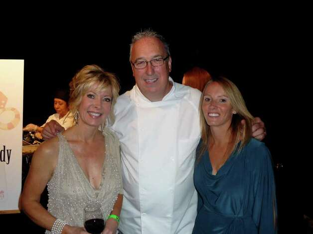 Tanji Patton (from left), Royal Chef Darren McGrady and wife Wendy. Photo courtesy Tanji Patton Photo: Express-News