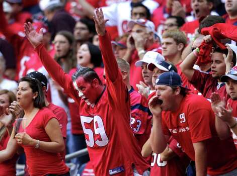 during the first quarter of an NFL football game at Reliant Stadium on Sunday, Oct. 30, 2011, in Houston. Photo: Brett Coomer, Houston Chronicle / © 2011  Houston Chronicle