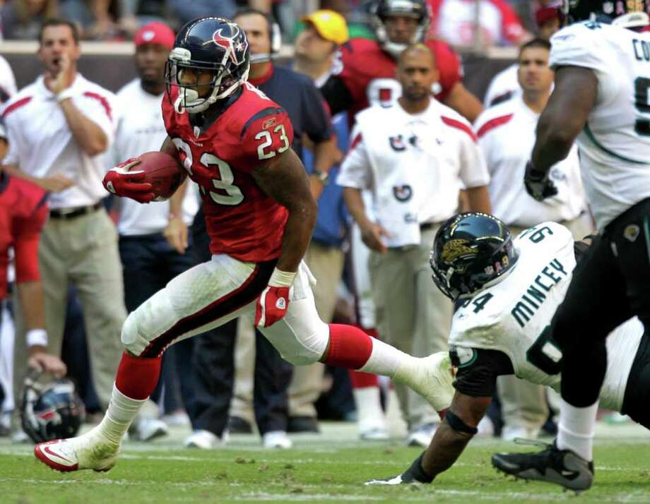 Jaguars defensive end Jeremy Mincey (94) accused the Texans of being dirty. Photo: Brett Coomer, Houston Chronicle / © 2011  Houston Chronicle