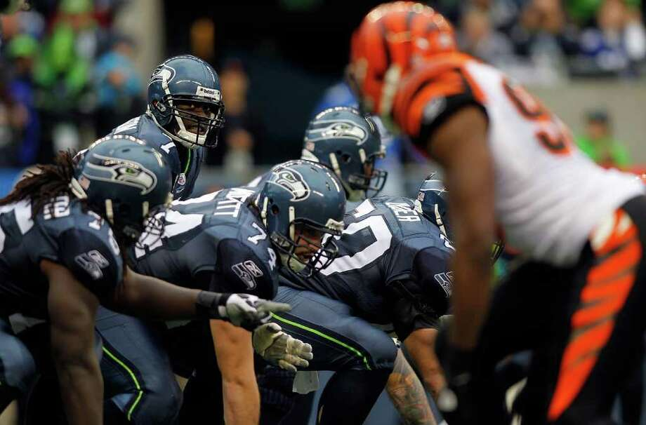 SEATTLE - OCTOBER 30:  Quarterback Tavaris Jackson #7 of the Seattle Seahawks prepares to take a snap against the Cincinnati Bengals on October 30, 2011 at Century Link Field in Seattle, Washington. Photo: Jonathan Ferrey, Getty Images / 2011 Getty Images