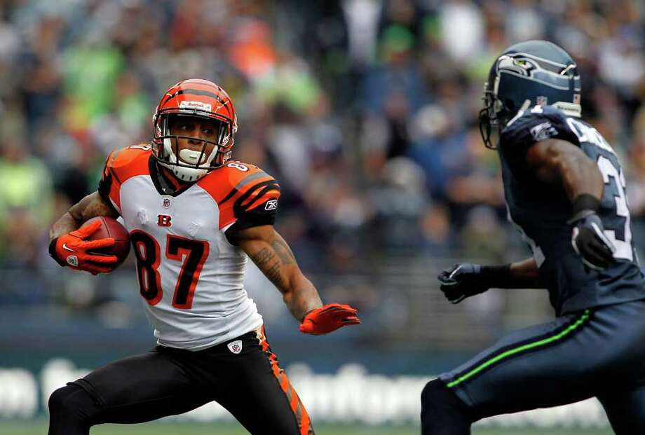 SEATTLE - OCTOBER 30:  Andre Caldwell #87 of the Cincinnati Bengals runs the ball against the Seattle Seahawks on October 30, 2011 at Century Link Field in Seattle, Washington. Photo: Jonathan Ferrey, Getty Images / 2011 Getty Images