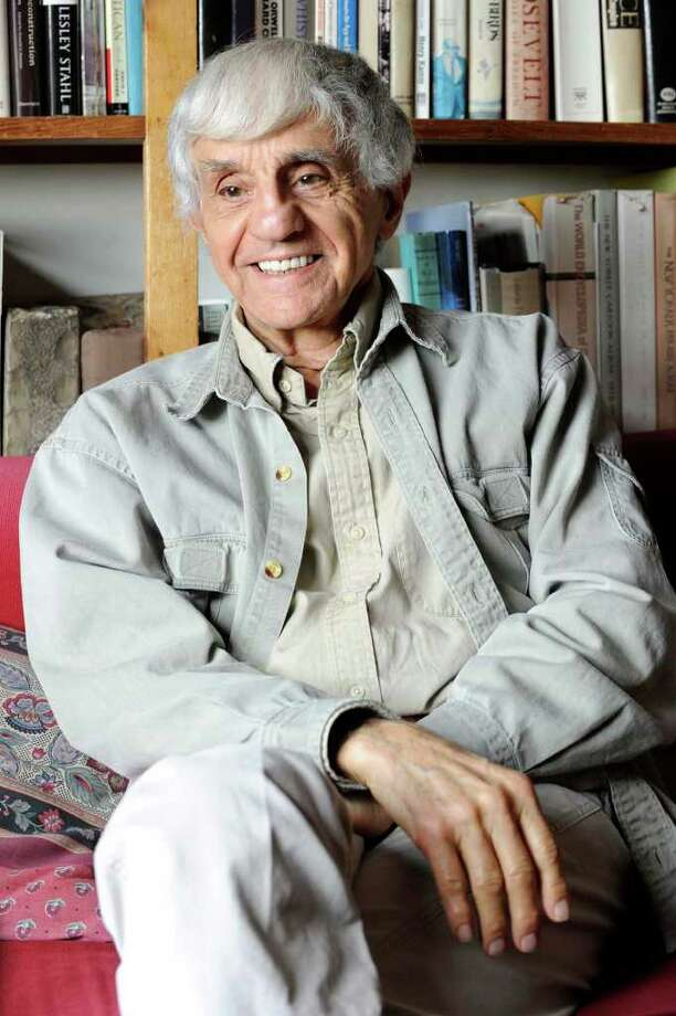 """Joseph Farris, of Bethel, wrote a book called """"A Soldier's Sketchbook."""" He is photographed in his home, Monday, Oct. 24, 2011. Photo: Carol Kaliff / The News-Times"""