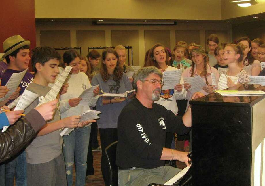 "Students rehearse for ""Red, Hot & Cole."" Photo: Contributed Photo"