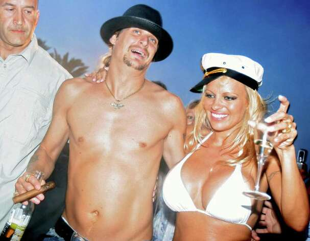 Pamela Anderson also was married to Kid Rock. Here they are in 2006. Photo: ERIC ESTRADE, AFP/Getty Images / 2006 AFP