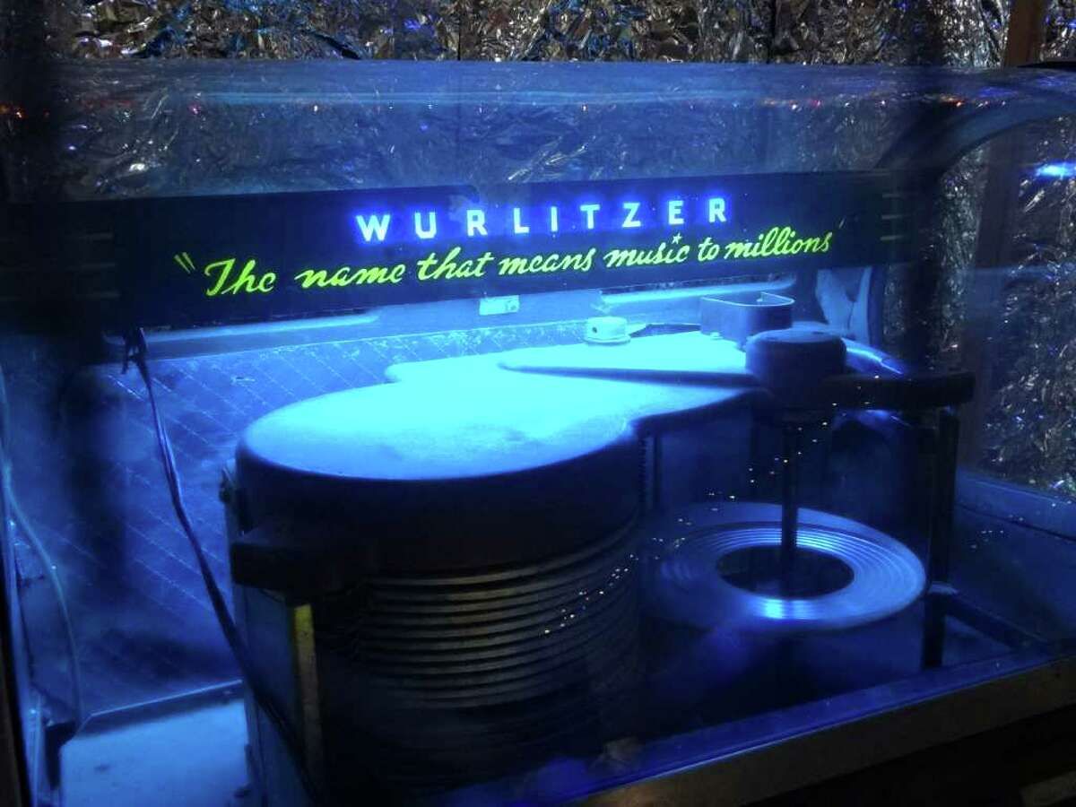 """This Wurlitzer jukebox is from the """"Wired For Sound"""" art installation by artist Bob Wade. Oct. 27, 2011. BILLY CALZADA / gcalzada@express-news.net roy bragg story"""