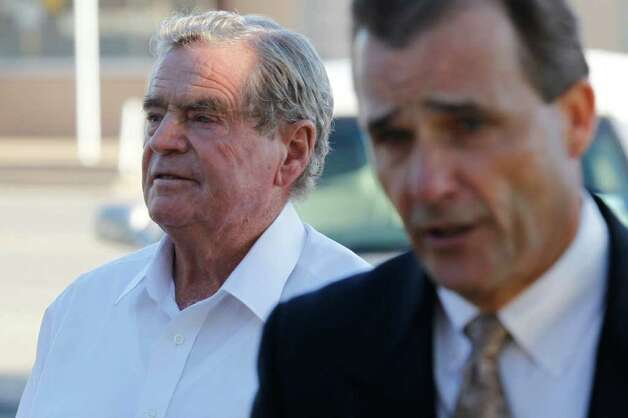 Faces of the Fundamentalist Church of Jesus ChristFrederick Merril Jessop, left, a former leader of the Fundamentalist Church of Jesus Christ of Latter Day Saints, walks to the front entrance of the Coke County Courthouse in Robert Lee, Texas on Oct. 31, 2011. Jessop received the maximum 10-year sentence for performing a ceremony prohibited by law, and officiating the marriage between his 12-year-old daughter and cult leader Warren Jeffs. The Texas Board of Pardons and Paroles plan to release Jessop this spring. Photo: Patrick Dove, Associated Press / San Angelo Standard-Times