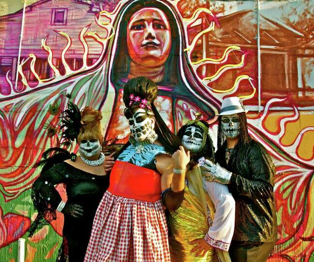 The crew from Jump-Start Performance Co. get ready for Dia de los Muertos. Courtesy of Jump-Start Pe