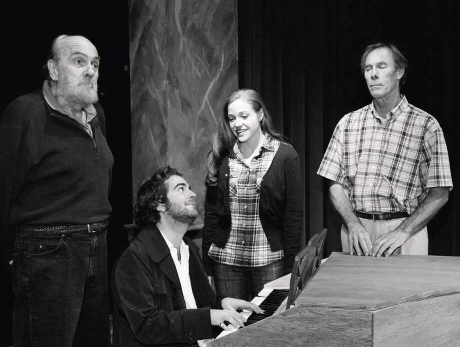 From left, Count von Strack (Manny Lieberman); Mozart (Bobby Pavia); Constanze (Ammie Renée Brown); and Antonio Salieri (Eric Schultz). Photo: Contributed Photo