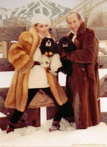 They loved their dogs almost as much as they loved their mink coats. Photo: Courtesy AwkwardFamilyPhotos.com