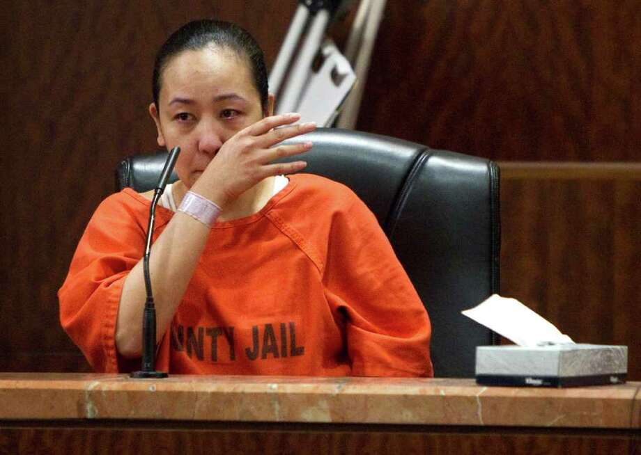Michelle Gaiser testifies during the attempted capital murder trial against Damian Ricardo Flores Tuesday, Nov. 1, 2011, in Houston. Flores is accused of shooting the wife of a Houston lawyer in what investigators say was the third attempt on her life. ( Brett Coomer / Houston Chronicle ) Photo: Brett Coomer / © 2011 Houston Chronicle