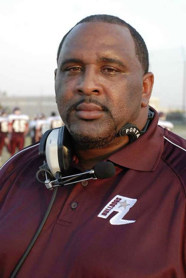 Reagan head coach Stephen Dixon Sr. during their game with Northbrook at Dyer Stadium Thursday 9/15/11. Photo by Tony Bullard. Photo: Tony Bullard / Credit: for the Chronicle