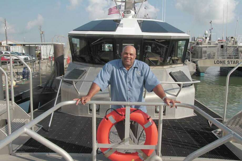 PIN LIM: FOR THE CHRONICLE AT THE HELM: Houston Pilot Capt. Paul Brown said he's honored to be a recipient of the maritine leadership award named for Paul Cuffee, a self-educated African-American who became a maritime captain and abolitionist. Photo: Pin Lim / Copyright Pin Lim.