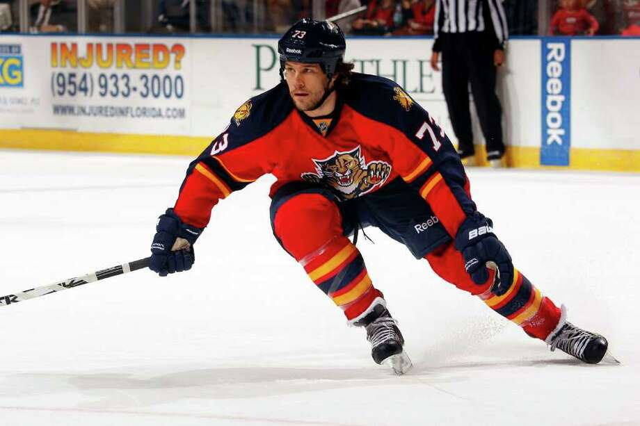 Bracken Kearns made his long-awaited NHL debut on Oct. 20 with the Florida Panthers against the Buffalo Sabres in Sunrise, Fla. Photo: Eliot J. Schechter, NHLI Via Getty Images / 2011 NHLI