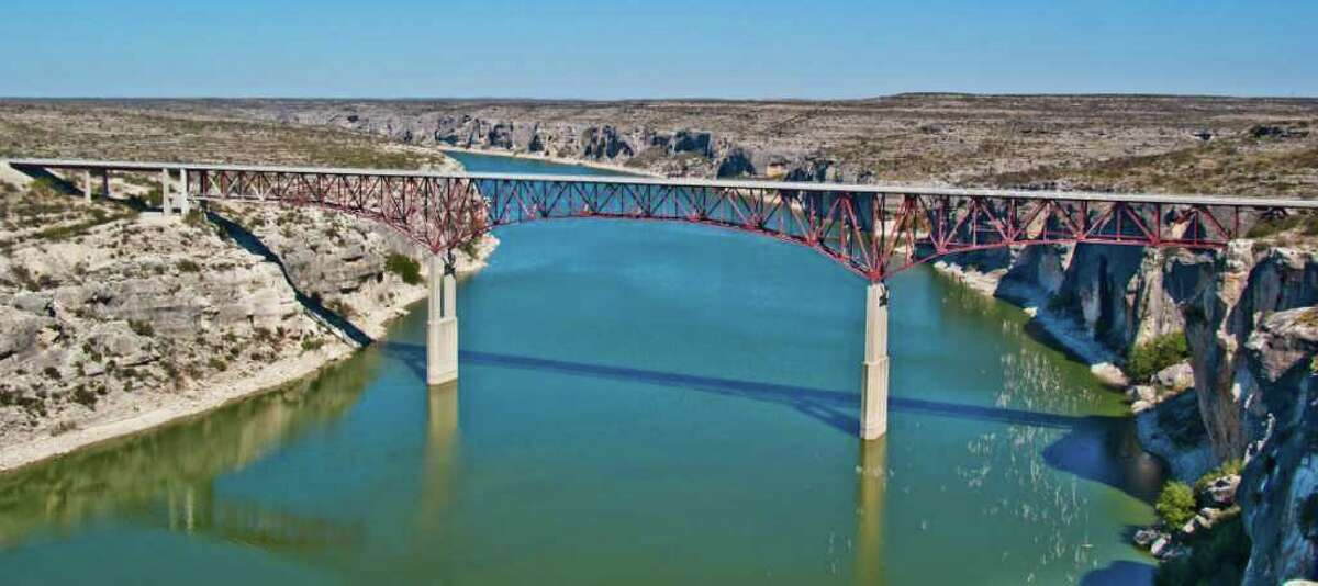 The Pecos River Bridge is the highest highway bridge in Texas. It carries U.S. 90 over the river between Comstock and Langtry.
