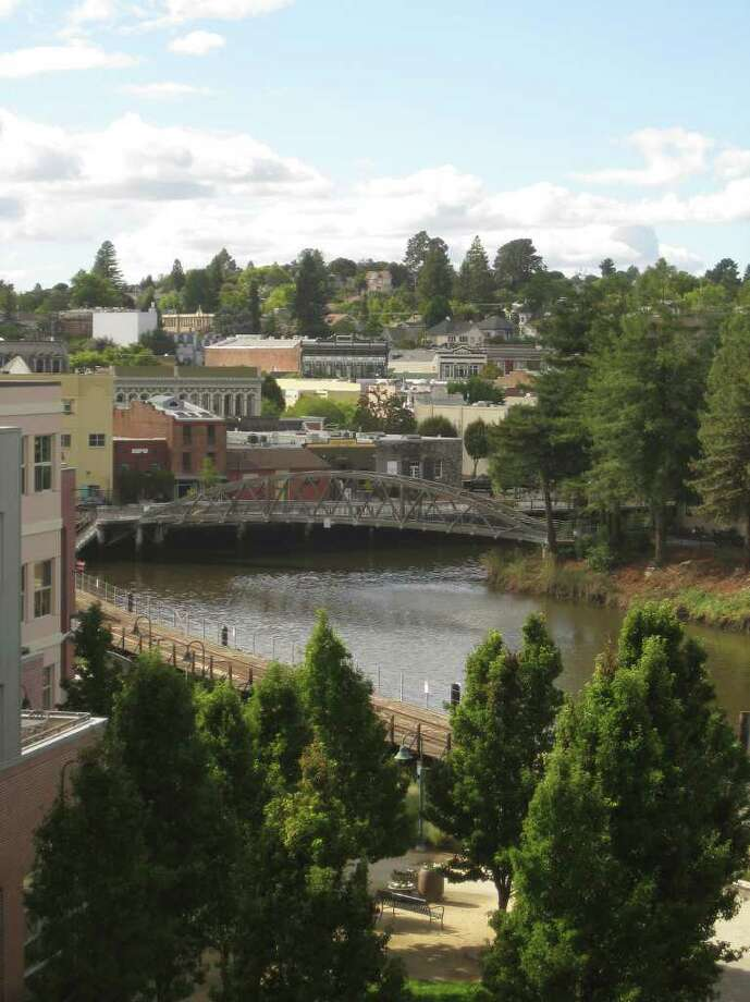 Trav Petaluma 3 - The Petaluma River flows along the town's historic center.  PHOTO BY KATHLEEN SCOTT/SPECIAL TO THE EXPRESS-NEWS
