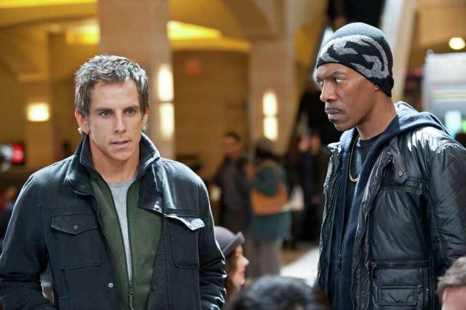 """Ben Stiller (left) and Eddie Murphy star in """"Tower Heist."""" Photo: UNIVERSAL PICTURES"""