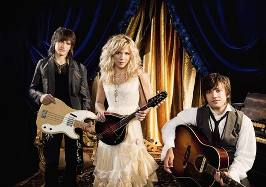 """The Band Perry, Wednesday, 7 p.m.From Tennessee by way of Alabama, The Band Perry, siblings Kimberly, Reid and Neil Perry, cut their musical teeth in other bands before getting together to put the family harmony to good country and country/pop use. The group's debut album, """"The Band Perry,"""" has been certified platinum and, if that's not enough, the Perrys are up for a best new artist Grammy. COURTESY REPUBLIC NASHVILLE"""
