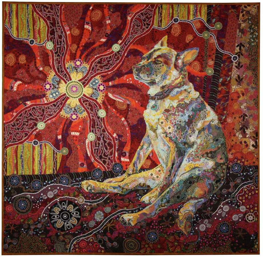 """Festival Gallery of Quilt Art: Good for You features quilts with the theme, """"good for you."""" Pictured is Dixie Dingo Dreaming by Susan Carlson. Photo: International Quilt Festival"""