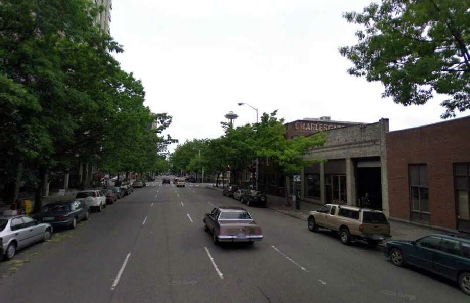 A similar picture looking northeast near Fourth Avenue and Blanchard Street. Photo: Google Street View