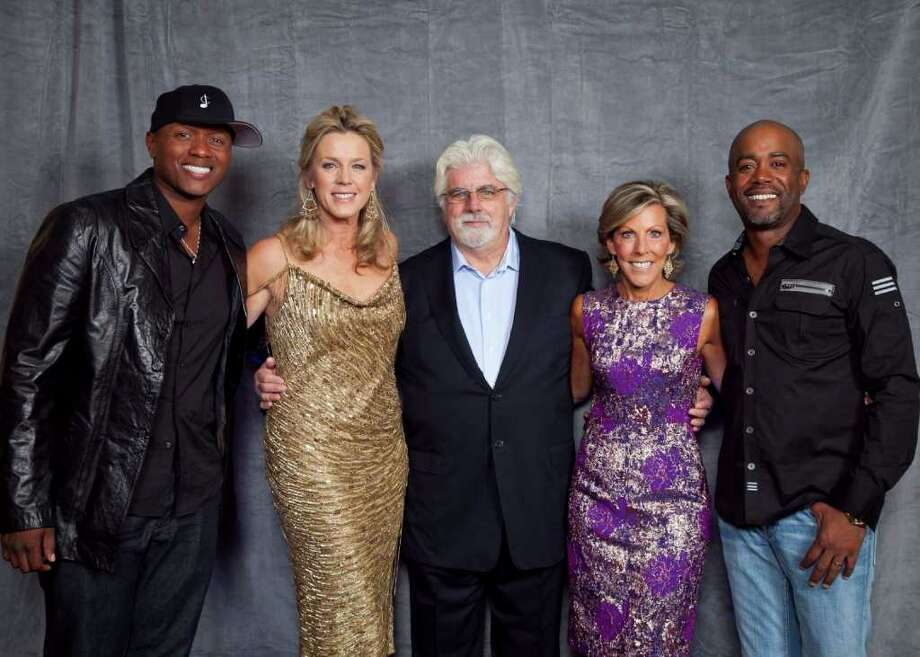Javier Colon, Deborah Norville, Michael McDonald, Kathy Giusti and Darius Rucker celebrate the success of the 15th annual Multiple Myeloma Research Foundation (MMRF) Fall Gala. Photo: Contributed Photo