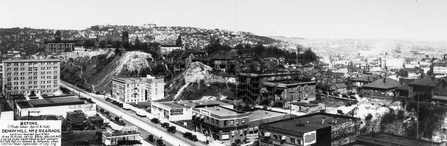 A view of Denny Hill in 1928. Photo: Seattle Municipal Archives