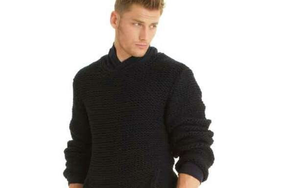 A look from Armani Exchange's holiday 2011 lookbook.