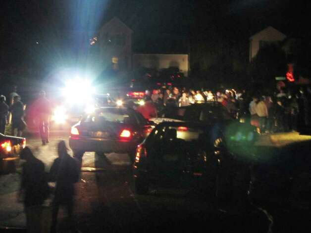 Clare Castle Dr. residents in Colonie were over run with unruly Halloween revelers Monday night Oct. 31, 2011. Police were called in to disperse the large crowd which chose to converged on the neighborhood. (Courtesy Loretta Orlando)