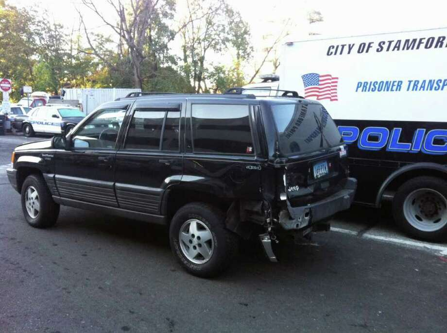 Stamford Police Say This Jeep Grand Cherokee Was Abandoned After Being Used To Break Into The