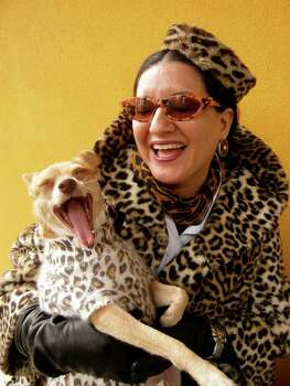 Local writer Sandra Cisneros will host a leopard-themed 55th birthday party to raise funds for her Macondo Foundation, a non-profit literary organization. Photo: Photo By Ray Santisteban