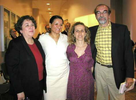 OTS/BROTHERS - Sonia Saldivar-Hull Phd (exec dir womens studies institute at UTSA), Sandra Cisneros (author), Liliana Valenzula (translator) and Enrique Cortazar Phd (director Mexican Institute) were at UTSA downtown on 4/23/2003 for the Institute of Mexico lecture series. names checked photo by leland a. outz Photo: LELAND A. OUTZ, SPECIAL TO THE EXPRESS-NEWS / SAN ANTONIO EXPRESS-NEWS