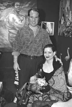 ots--Sandra Cisneros held a reception & lecture at Blue Star Art Space.(LtoR) Franco Mondini Ruiz, friend & curator; Sandra Cisneros, guest lecturer.11-11-98-6820