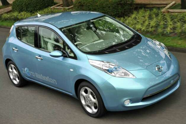 The Nissan Leaf all-electric car could be exported from its new U.S. assembly point in Tennessee after production begins late in 2012, analysts say. COURTESY OF NISSAN NORTH AMERICA INC. Photo: Nissan North America, COURTESY OF NISSAN NORTH AMERICA INC.