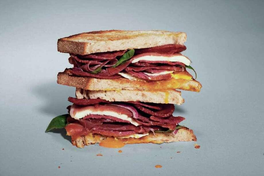 Michael Schmelling Italian breakfast sandwich Photo: Jorge Porras