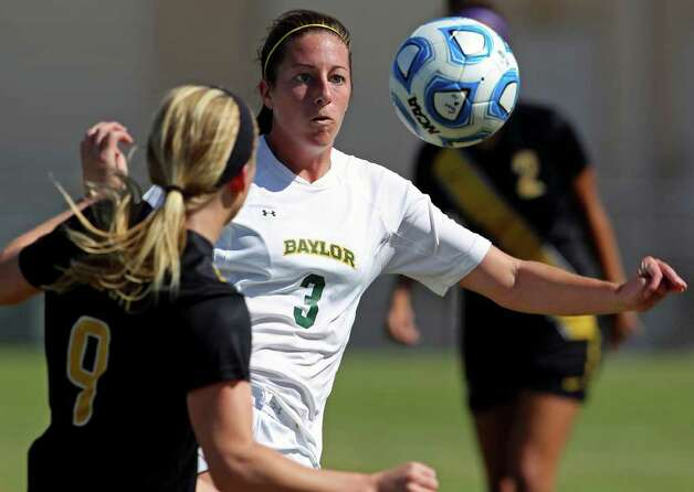 Baylor's Dana Larsen moves in on the ball during the 2011 Big 12 Soccer Championship tournament at Blossom Soccer Stadium on  November 2, 2011.  Tom Reel/Staff Photo: TOM REEL, Express-News / © 2011 San Antonio Express-News