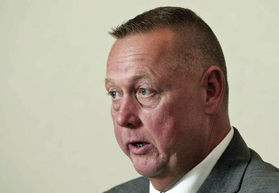 Gary Gordon, running for Rensselaer County Sheriff, speaks during an editorial board meeting at the Times Union on Thursday Oct. 20, 2011 in Colonie, NY.  (Philip Kamrass / Times Union ) Photo: Philip Kamrass / 00015063A