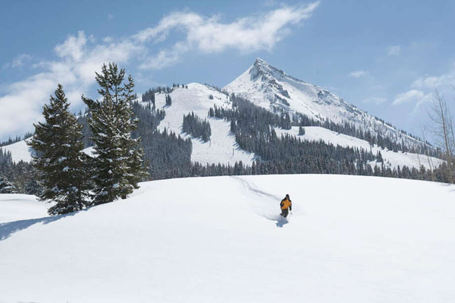 First turns in fresh snow at Crested Butte Mountain Resort