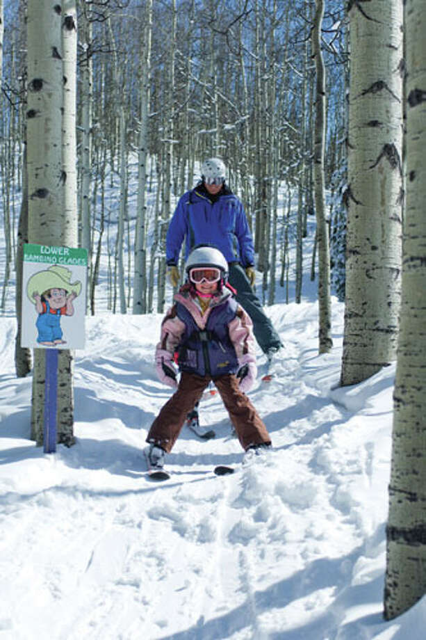 Ski school at Crested Butte Mountain Resort