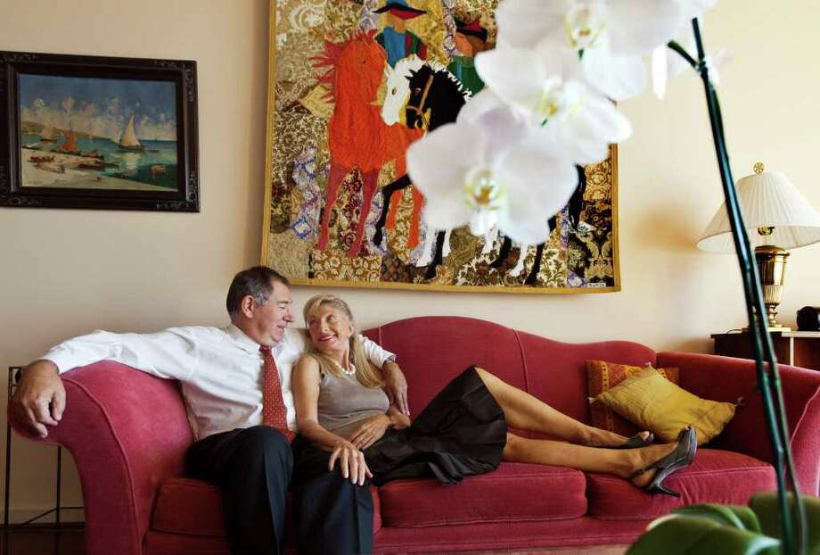 CRAIG H. HARTLEY ROMANTIC: Marie and Alain LeNôtre have been married for 31 years; they met when they lived in Paris. Photo: Craig Hartley / Copyright: Craig H. Hartley