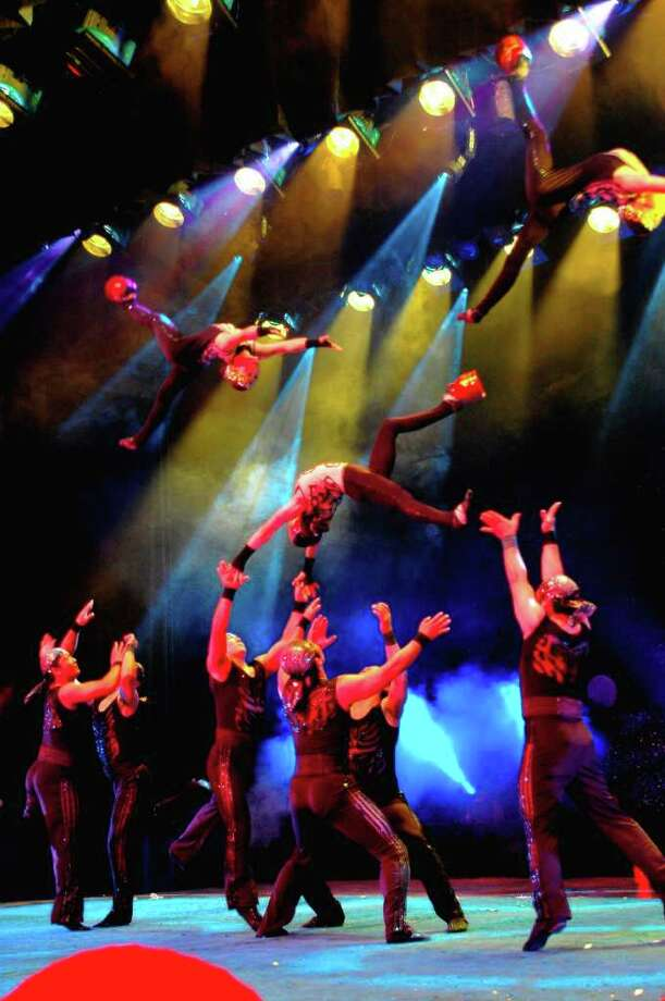 The National Acrobats of People's Republic of China will give two performances at the Quick Center Saturday, Nov. 12. Photo: Contributed Photo