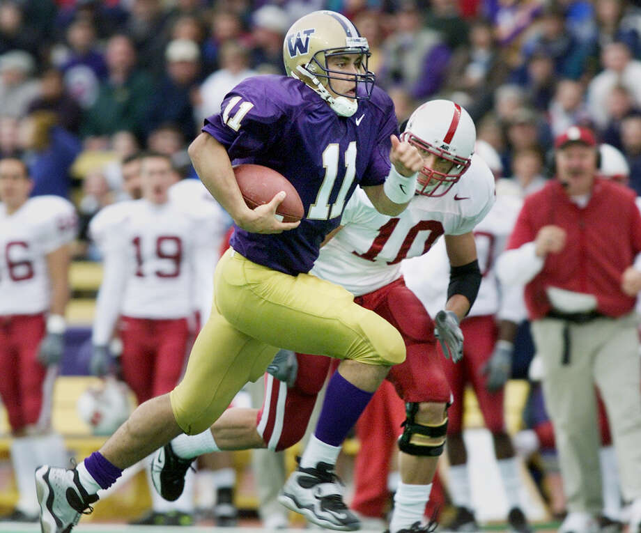 No. 8, Oct. 30, 1999 – Washington 35, Stanford 30. Marques Tuiasosopo threw for 302 yards and rushed for 207, a performance that remains the most impressive individual feat in program history. The Cardinal went on to win the Pac-10 and play in the Rose Bowl. Photo: Dan DeLong/seattlepi.com File