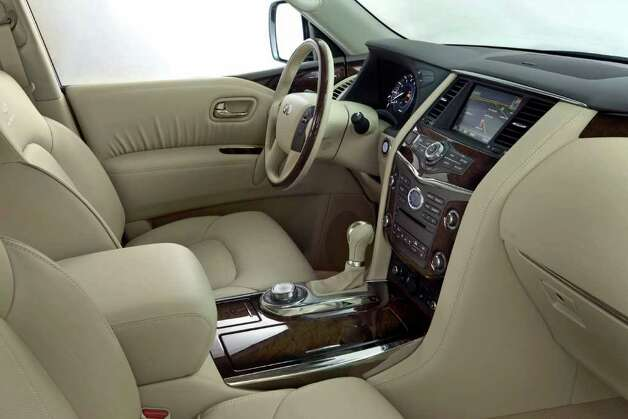 Standard on the QX56 are leather upholstery and a variety of convenience features, including an in-dash navigation system with around-view monitor. COURTESY OF NISSAN NORTH AMERICA INC. Photo: Nissan North America, COURTESY OF NISSAN NORTH AMERICA INC.