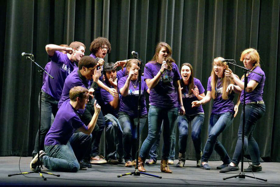 """Saturday: """"Bijou Blender,"""" a battle of collegiate a capella singing groups, will take place at 7 p.m. at the Bijou Theatre in Bridgeport. Visit thebijoutheatre.com for more info. Photo: Contributed Photo"""