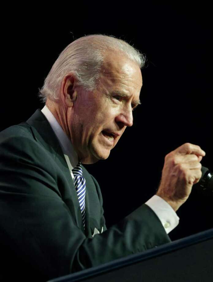 Vice President Joe Biden speaks at the Florida Education Associations 2011 Delegate Assembly meeting, Friday, Oct. 28, 2011, in Orlando, Fla. (AP Photo/John Raoux) Photo: John Raoux / AP