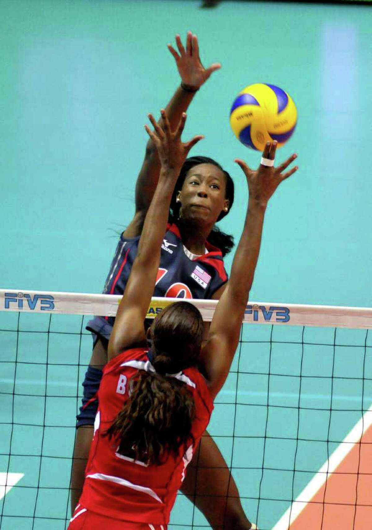 Destinee Hooker at FIVB World Grand Prix Finals Match Place 1/2 USA vs. Brazil (BRA) CONNY KURTH / WWW.KURTH-MEDIA.DE